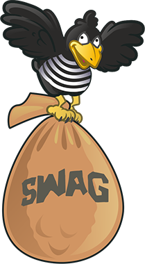 Crow with Swag